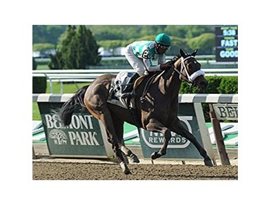 "Merry Meadow comes on late to win the Vagrancy Handicap.<br><a target=""blank"" href=""http://photos.bloodhorse.com/AtTheRaces-1/At-the-Races-2014/i-7RRk7tH"">Order This Photo</a>"