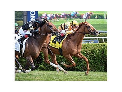 "Wise Dan holds off Optimizer to win the Bernard Baruch.<br><a target=""blank"" href=""http://photos.bloodhorse.com/AtTheRaces-1/At-the-Races-2014/i-G4Qrdgj"">Order This Photo</a>"