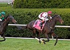 "Crown Queen rolls to victory in the Queen Elizabeth II.<br><a target=""blank"" href=""http://photos.bloodhorse.com/AtTheRaces-1/At-the-Races-2014/i-vBPCLcd"">Order This Photo</a>"