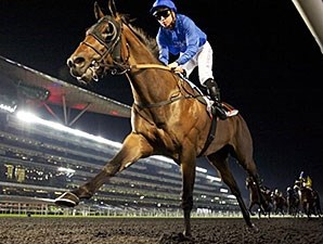 Long John comes home strong to win the United Arab Emirates Two Thousand Guineas.