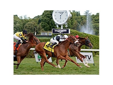 "Main Sequence (outside), Imagining (inside), and Twilight Eclipse finished 1-2-3 in the Sword Dancer.<br><a target=""blank"" href=""http://photos.bloodhorse.com/AtTheRaces-1/At-the-Races-2014/i-W6zVSVP"">Order This Photo</a>"