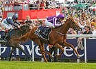 "Australia pulls away from Kingston Hill to win the Investec Epsom Derby. <br><a target=""blank"" href=""http://photos.bloodhorse.com/AtTheRaces-1/At-the-Races-2014/i-XhWVQh9"">Order This Photo</a>"