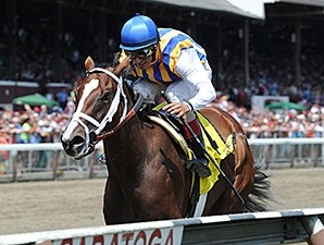 Fashion Alert takes the Schuylerville Stakes on opening day at Saratoga.
