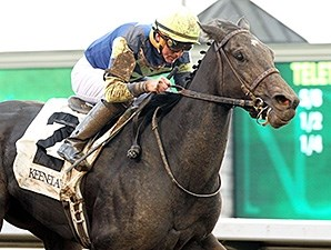 Leigh Court won the 2014 Thoroughbred Club of America, earning her ticket to the Breeders' Cup Filly and Mare Sprint.