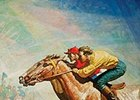 """The Horse Race"" will be available at the Sporting Art Auction."