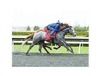 Coastline worked five furlongs in company at Keeneland in 1:00 2/5.