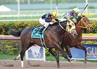 "General a Rod (left) fights off Wildcat Red to win the Gulfstream Park Derby.<br><a target=""blank"" href=""http://photos.bloodhorse.com/AtTheRaces-1/At-the-Races-2014/35724761_2vdnSX#!i=3000113139&k=vzzgNL6"">Order This Photo</a>"