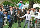 Kingman and jockey James Doyle win the Prix Jacques Le Marois.