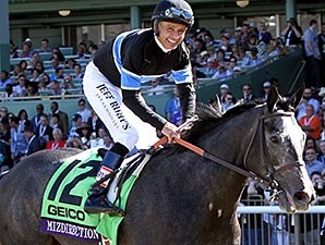 Mizdirection after winning the 2013 Breeders' Cup Turf Sprint.