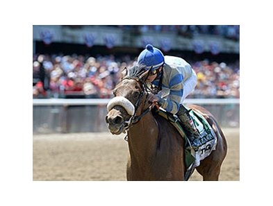 "Sweet Reason was installed as the 3-1 morning-line favorite for the Test.<br><a target=""blank"" href=""http://photos.bloodhorse.com/AtTheRaces-1/At-the-Races-2014/i-qrdhbCg"">Order This Photo</a>"