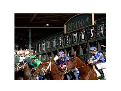 The Keeneland Spring Meet opens April 3.