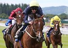 "Thistle Bird comes home strong to win the Pretty Polly Stakes.<br><a target=""blank"" href=""http://photos.bloodhorse.com/AtTheRaces-1/At-the-Races-2014/i-FDfxgQG"">Order This Photo</a>"