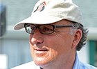 Trainer Christophe Clement at Belmont Park June 8.