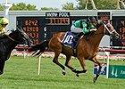 "The Pizza Man leads them home in the American St. Leger.<br><a target=""blank"" href=""http://photos.bloodhorse.com/AtTheRaces-1/At-the-Races-2014/i-x9GXqNX"">Order This Photo</a>"
