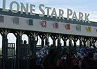 Lone Star Park starting gate.