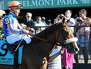 Minorette won the 2014 Belmont Oaks.