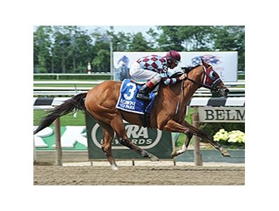 "Bessie's Boy won the Tremont Stakes by 6 lengths at Belmont June 20.<br><a target=""blank"" href=""http://photos.bloodhorse.com/AtTheRaces-1/At-the-Races-2014/i-Ntvbkc9"">Order This Photo</a>"