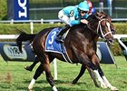 "Wallyanna goes by Bobby's Kitten to win the National Museum of Racing Hall of Fame Stakes.<br><a target=""blank"" href=""http://photos.bloodhorse.com/AtTheRaces-1/At-the-Races-2014/i-BZfw3Fn"">Order This Photo</a>"