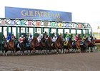 Gulfstream Park has held an almost 2-1 edge in pari-mutuel handle.
