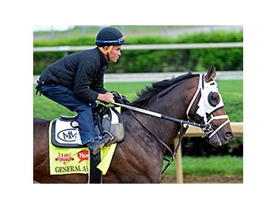 "Starlight Racing and Skychai Racing teamed up to buy General a Rod.<br><a target=""blank"" href=""http://photos.bloodhorse.com/TripleCrown/2014-Triple-Crown/Kentucky-Derby-Workouts/i-9c5jTPv"">Order This Photo</a>"