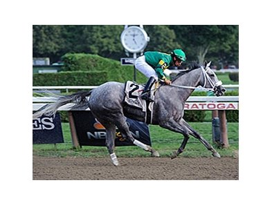 "Stonetastic romps in the Prioress Stakes.<br><a target=""blank"" href=""http://photos.bloodhorse.com/AtTheRaces-1/At-the-Races-2014/i-PgqsMKN"">Order This Photo</a>"