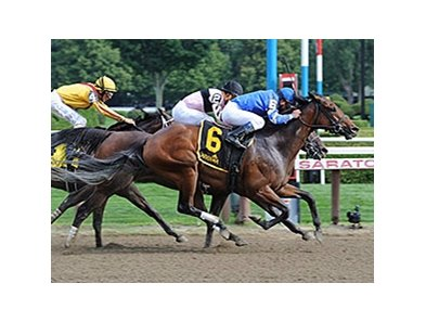 Better Lucky wins the Shine Again Stakes.