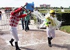Arny Fontanez received a warm welcome after winning his first race.