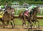 Fortune Pearl won the 2014 Delaware Oaks at Delaware Park.