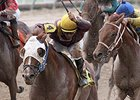 "Louisiana Flyboy won the A.L. ""Red"" Erwin Stakes.<br><a target=""blank"" href=""http://photos.bloodhorse.com/AtTheRaces-1/At-the-Races-2014/i-2sLND7jt"">Order This Photo</a>"