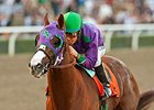 California Chrome winning the 2014 California Cup Derby.