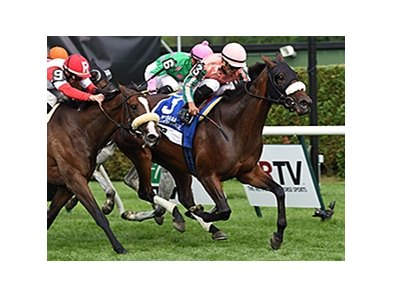 "Somali Lemonade comes home strong to win the Diana Stakes.<br><a target=""blank"" href=""http://photos.bloodhorse.com/AtTheRaces-1/At-the-Races-2014/i-dWcvRTG"">Order This Photo</a>"