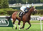 "Legendary bounds home to win the Knickerbocker Stakes.<br><a target=""blank"" href=""http://photos.bloodhorse.com/AtTheRaces-1/At-the-Races-2014/i-wrQ2DDB"">Order This Photo</a>"