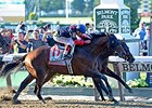 Tonalist winning the Belmont Stakes.
