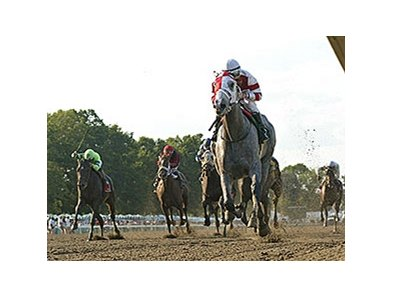 Cassatt runs away from the competition in the Monmouth Oaks.