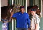 Social Inclusion, Ron Sanchez, and trainer Manny Azpurua at Pimlico.