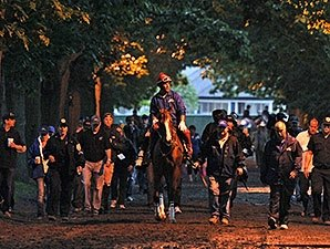 California Chrome Schools at Rainy Belmont