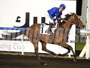 Ihtimal comes home strong to win the United Arab Emirates One Thousand Guineas.