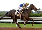 "Leigh Court and Gary Boulanger take the Thoroughbred Club of America Stakes.<br><a target=""blank"" href=""http://photos.bloodhorse.com/AtTheRaces-1/At-the-Races-2014/i-BgrsVh3"">Order This Photo</a>"