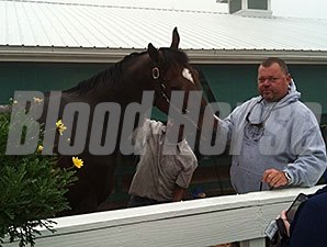 Trainer Eric Guillot with Moreno