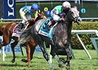 "Filimbi won the De La Rose Stakes by 1 3/4 lengths on Aug. 2.<br><a target=""blank"" href=""http://photos.bloodhorse.com/AtTheRaces-1/At-the-Races-2014/i-gVVFCmR"">Order This Photo</a>"