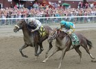 "Mr. Z (inside) finished second to Big Trouble in the 2014 Sanford Stakes. <br><a target=""blank"" href=""http://photos.bloodhorse.com/AtTheRaces-1/At-the-Races-2014/i-Dbt7vbV"">Order This Photo</a>"