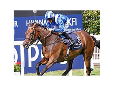 "Taghrooda comes home strong to win the King George VI and Queen Elizabeth Stakes.<br><a target=""blank"" href=""http://photos.bloodhorse.com/AtTheRaces-1/At-the-Races-2014/i-q7kx4nV"">Order This Photo</a>"