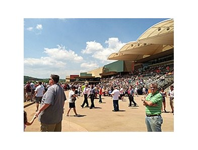 Belterra Park Gaming & Entertainment Center, the former River Downs, began its first race meet May 8 with official ceremonies and about 3,000 racing fans on hand.