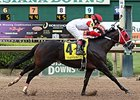 Vicar's in Trouble winning the 2014 Super Derby at Louisiana Downs