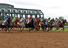 "Off and running in the first race on the new dirt at Keeneland.<br><a target=""blank"" href=""http://photos.bloodhorse.com/AtTheRaces-1/At-the-Races-2014/i-fvWcW8Z"">Order This Photo</a>"