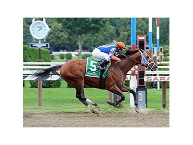 "Micromanage won the 1 3/4-mile Birdstone Stakes on August 7.<br><a target=""blank"" href=""http://photos.bloodhorse.com/AtTheRaces-1/At-the-Races-2014/i-vzj3QXL"">Order This Photo</a>"