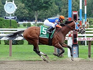 Micromanage won the 1 3/4-mile Birdstone Stakes on August 7.