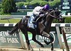 Clearly Now won the Belmont Sprint Stakes by 6 1/4 lengths on July 5.