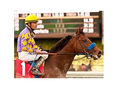 Gary Stevens and Santa Anita Derby contender Candy Boy won the Robert B. Lewis Stakes on February 8.
