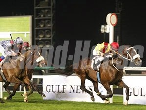 Anaerobio rolls home to win the Al Fahidi.